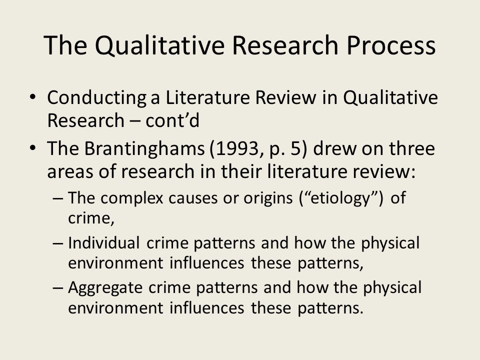 The Qualitative Research Process