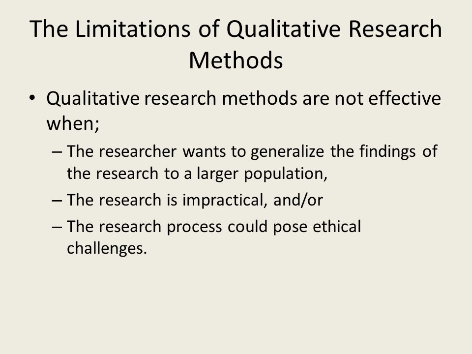 limitations in quantitative research Quantitative research can be numerically stated or compared may use statistical standards  geographic limitations access limitations 18 intercept interviews.