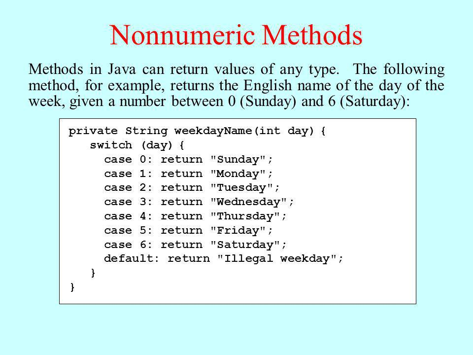 Nonnumeric Methods