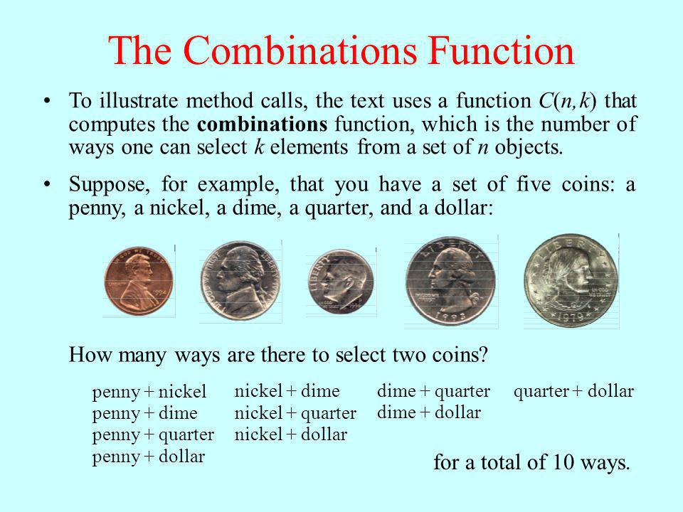 The Combinations Function