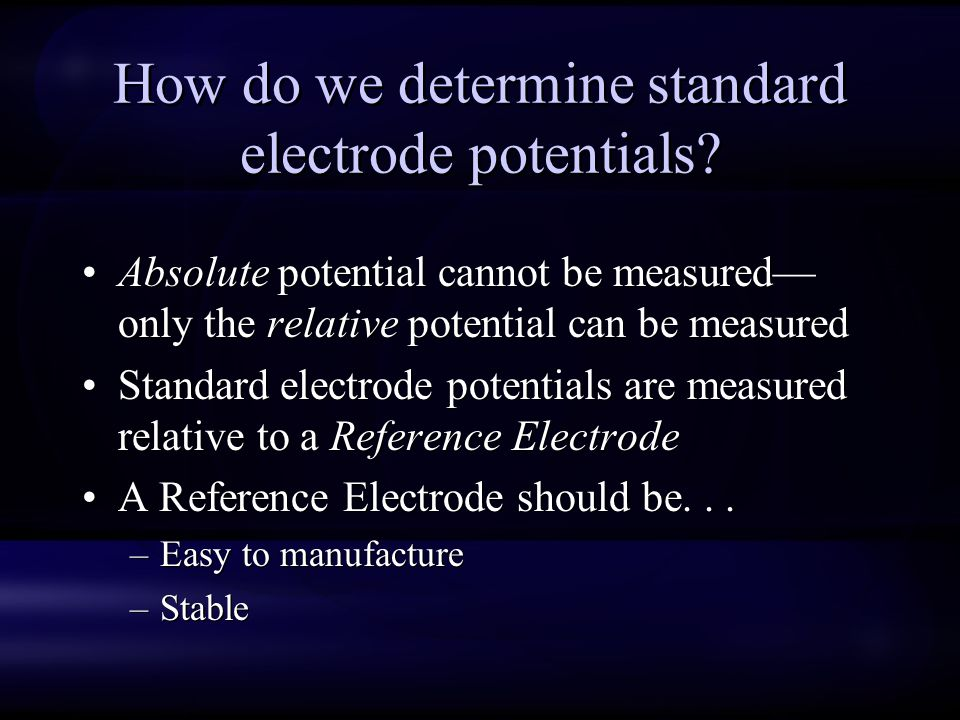 How do we determine standard electrode potentials