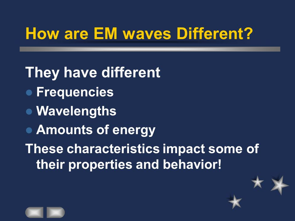 How are EM waves Different