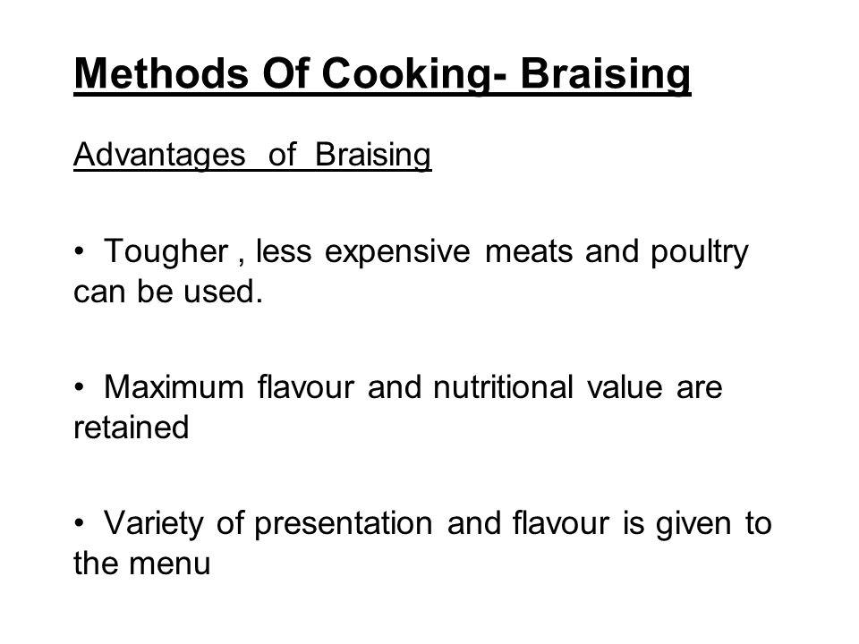 Methods Of Cooking- Braising