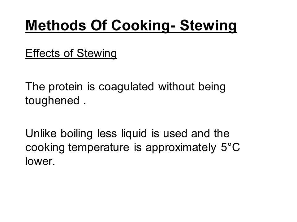 Methods Of Cooking- Stewing