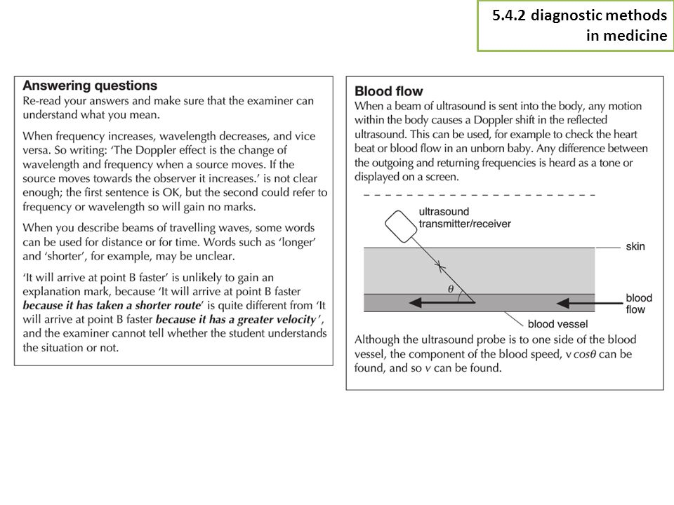 5.4.2 diagnostic methods in medicine