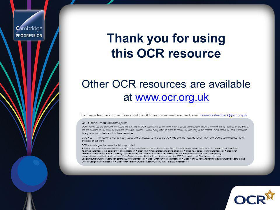 Other OCR resources are available at