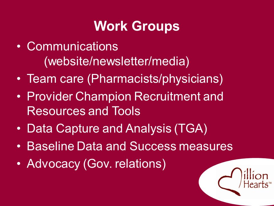 Work Groups Communications (website/newsletter/media)