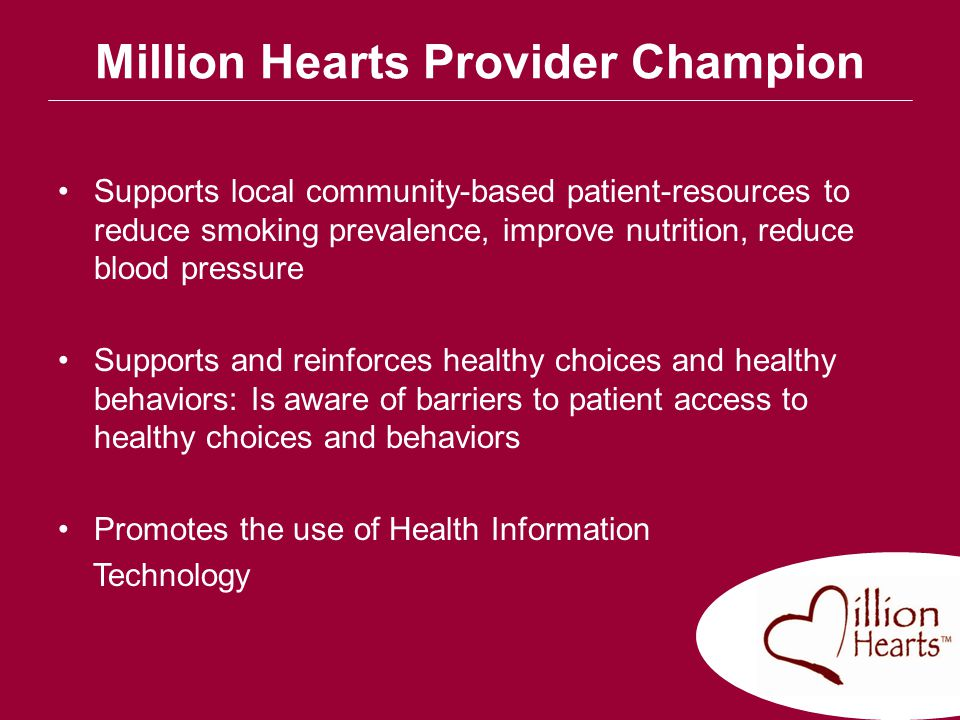 Million Hearts Provider Champion