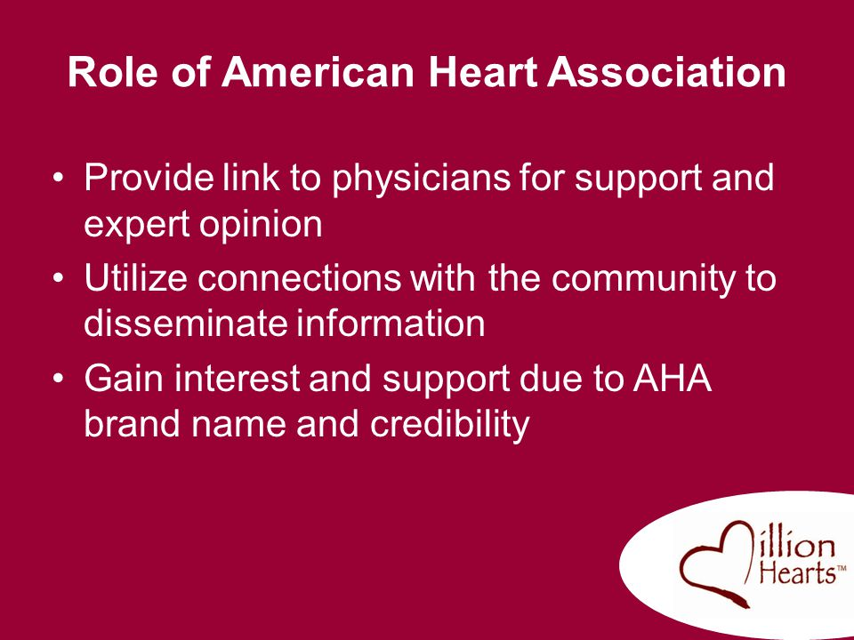 Role of American Heart Association