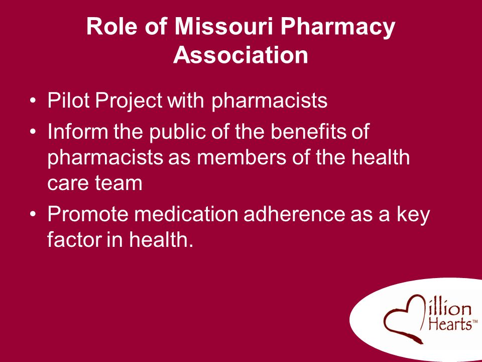 Role of Missouri Pharmacy Association