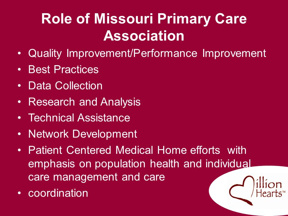 Role of Missouri Primary Care Association