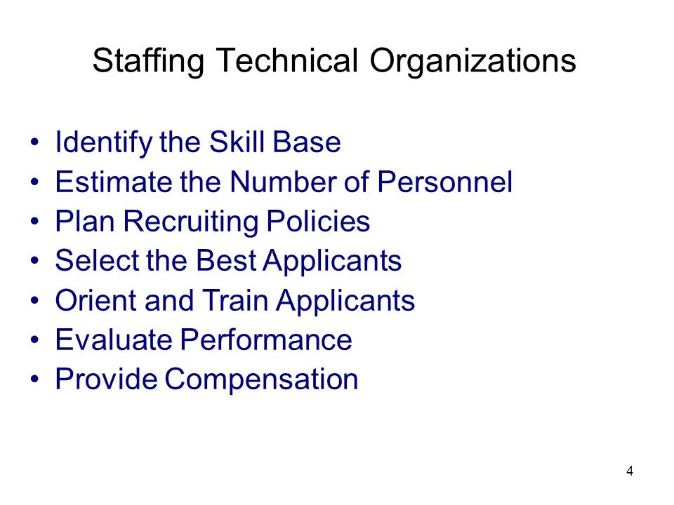 Staffing Technical Organizations