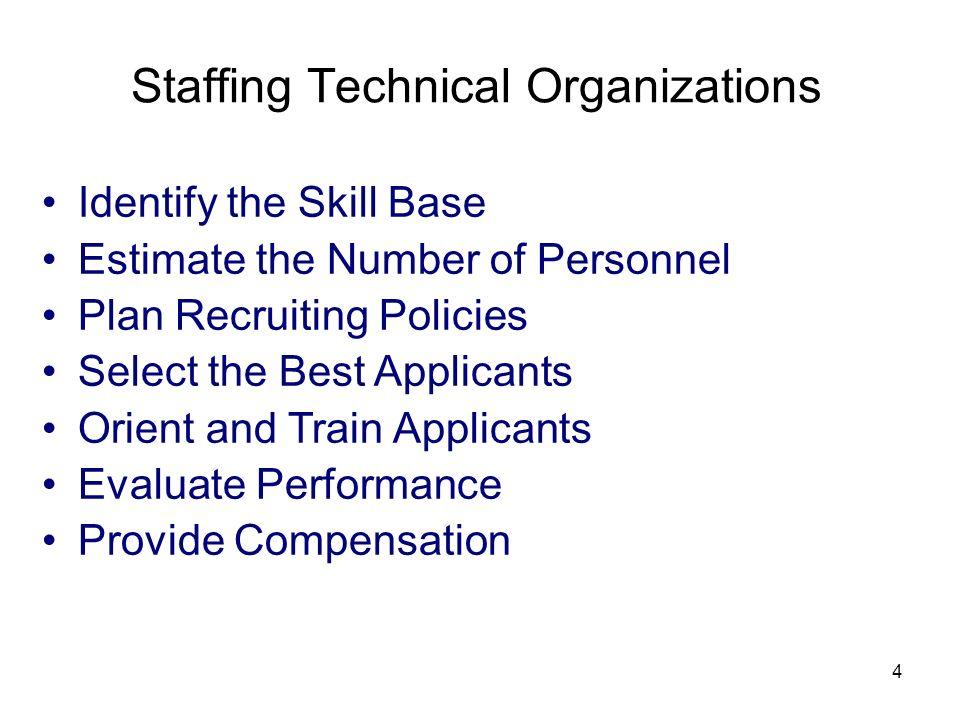 Staffing Technical Organizations