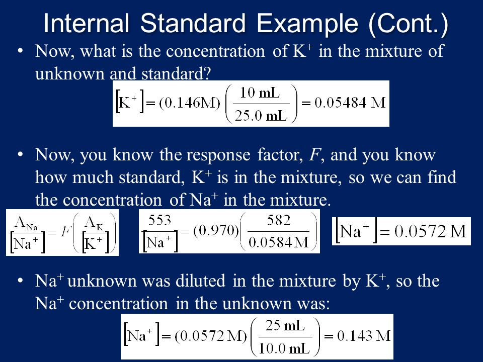 Internal Standard Example (Cont.)