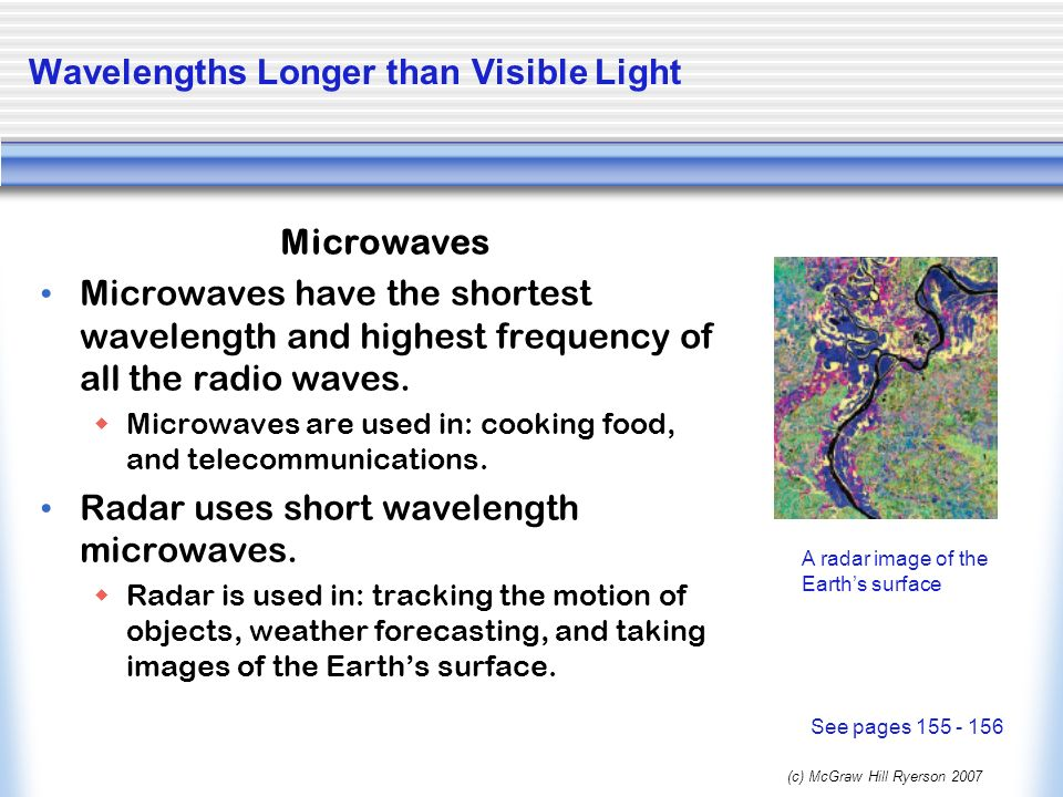 Wavelengths Longer than Visible Light