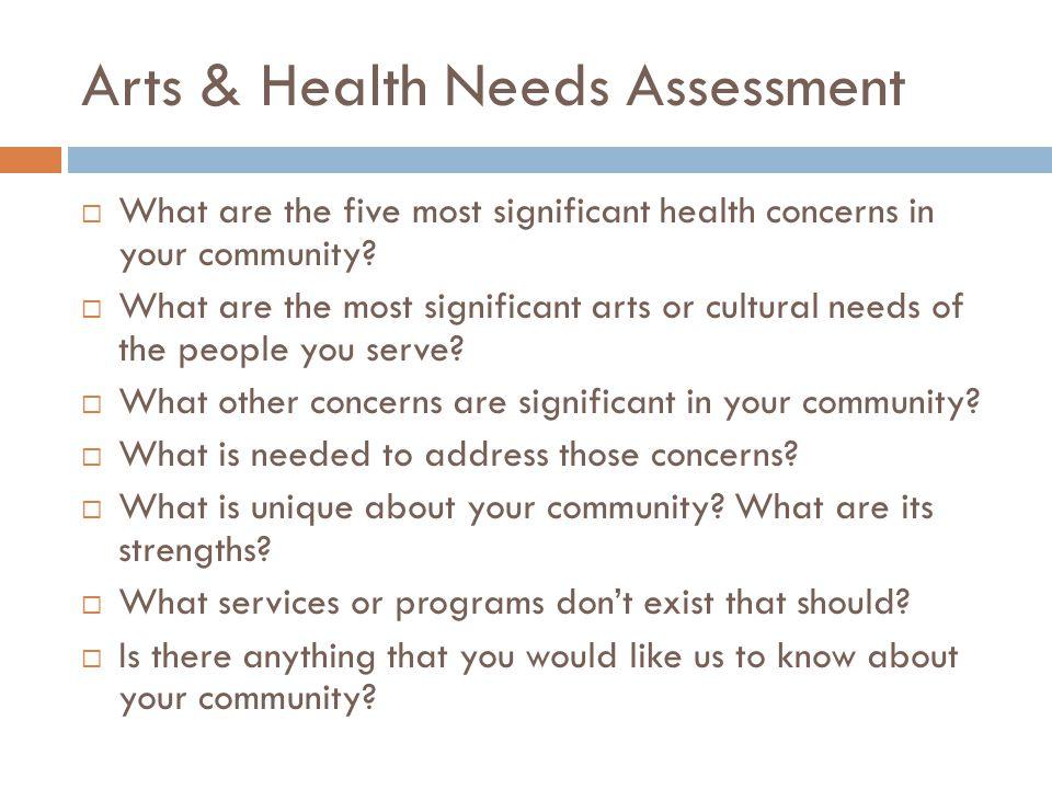 Arts & Health Needs Assessment