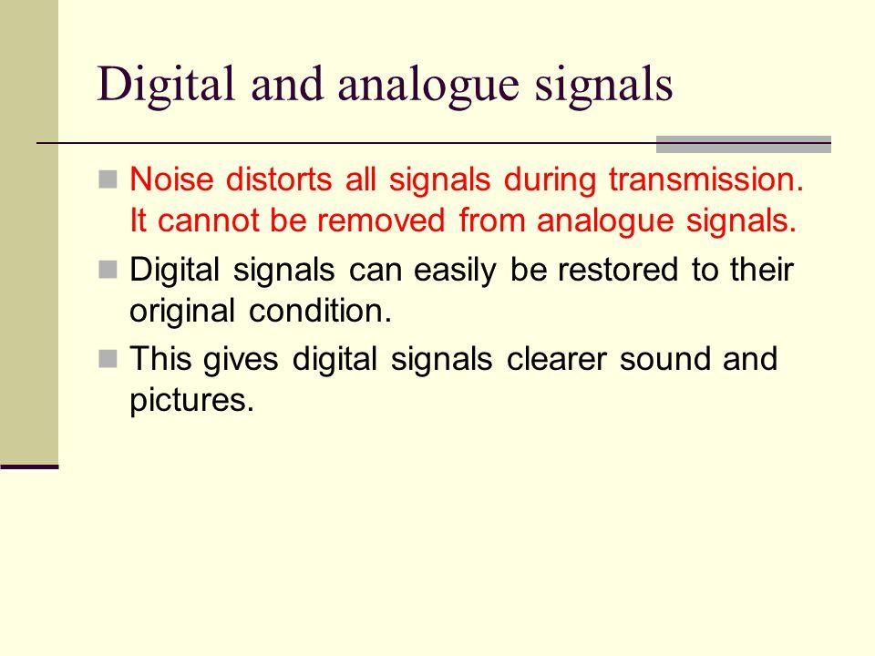 Digital and analogue signals