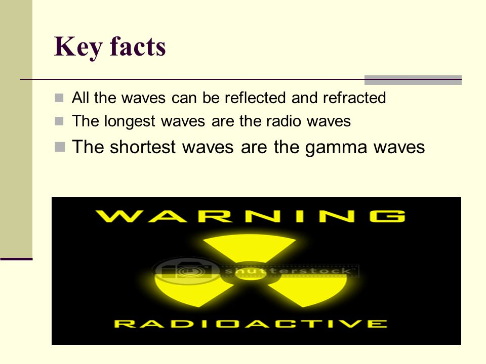 Key facts The shortest waves are the gamma waves