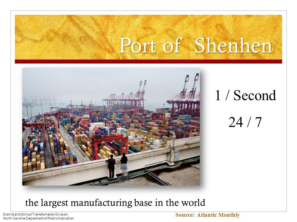 Port of Shenhen 1 / Second 24 / 7