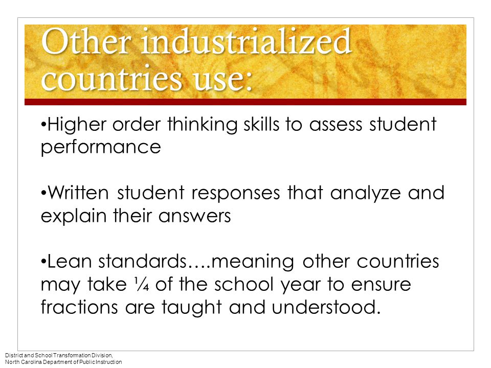 Other industrialized countries use: