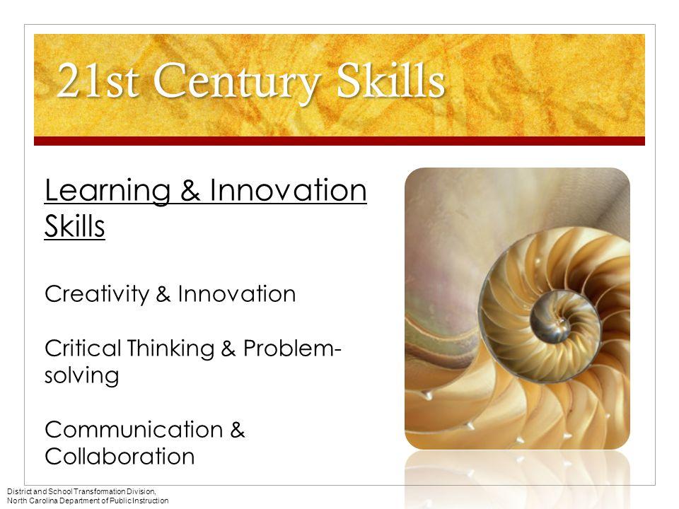 21st Century Skills Learning & Innovation Skills