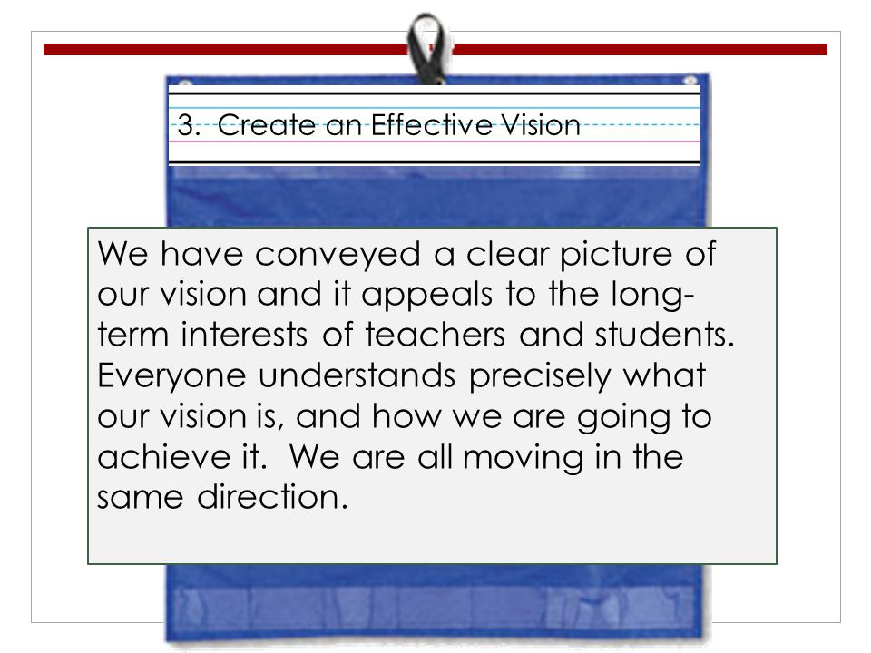 3. Create an Effective Vision