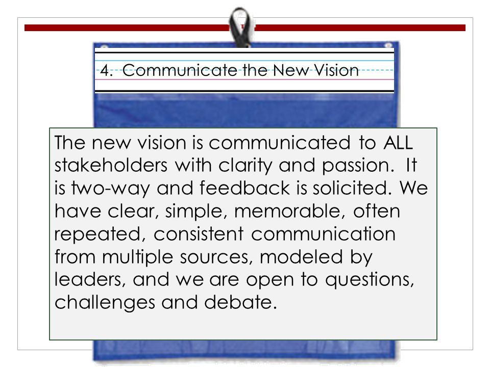 4. Communicate the New Vision