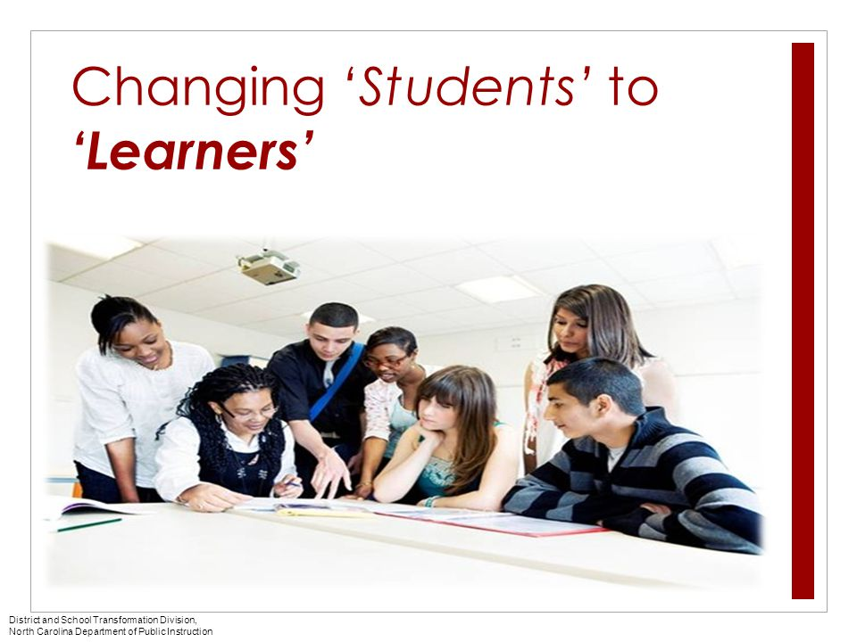 Changing 'Students' to 'Learners'