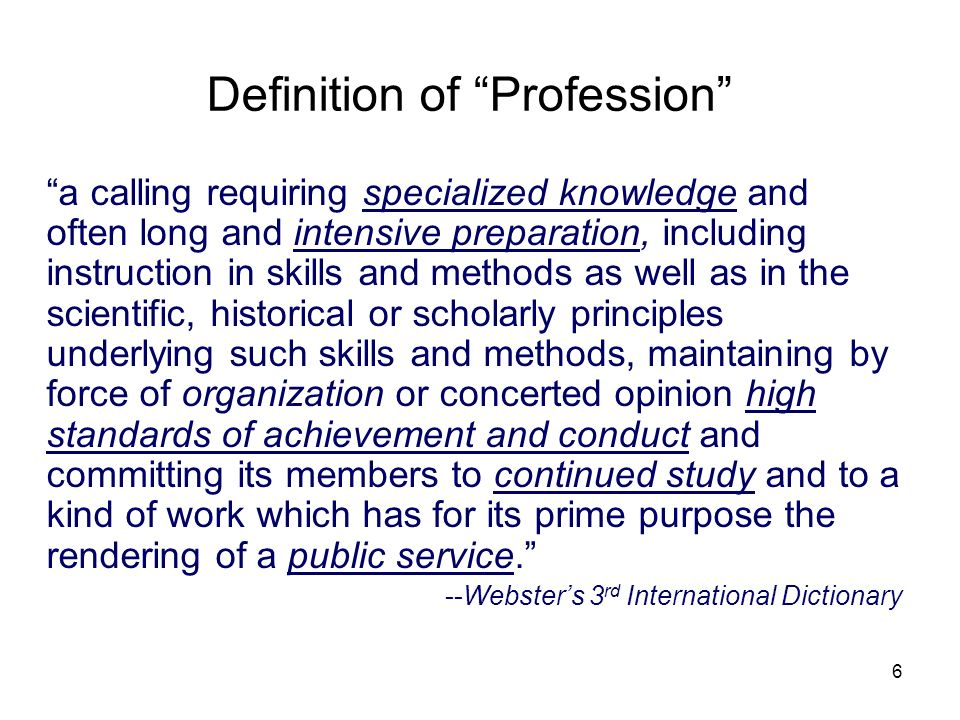 Definition of Profession