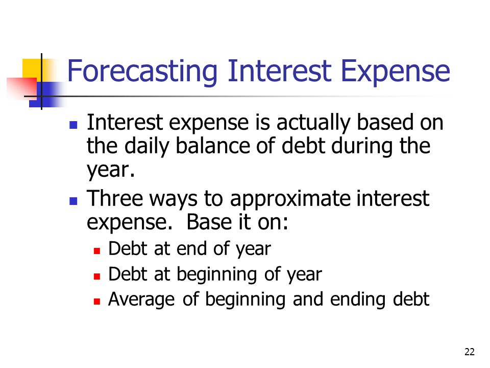 Forecasting Interest Expense