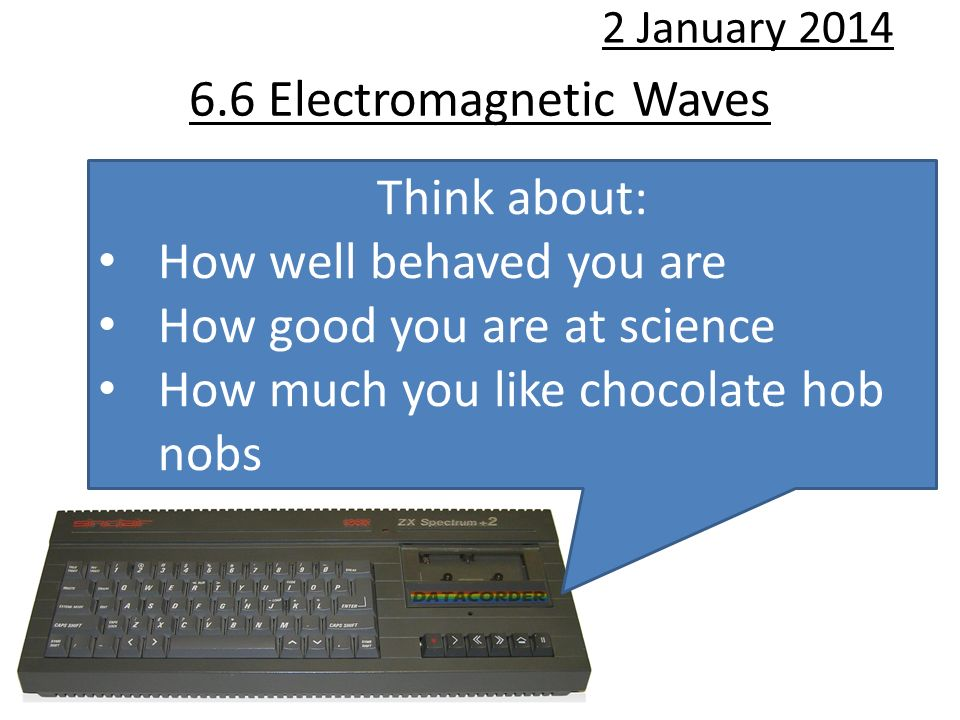 6.6 Electromagnetic Waves