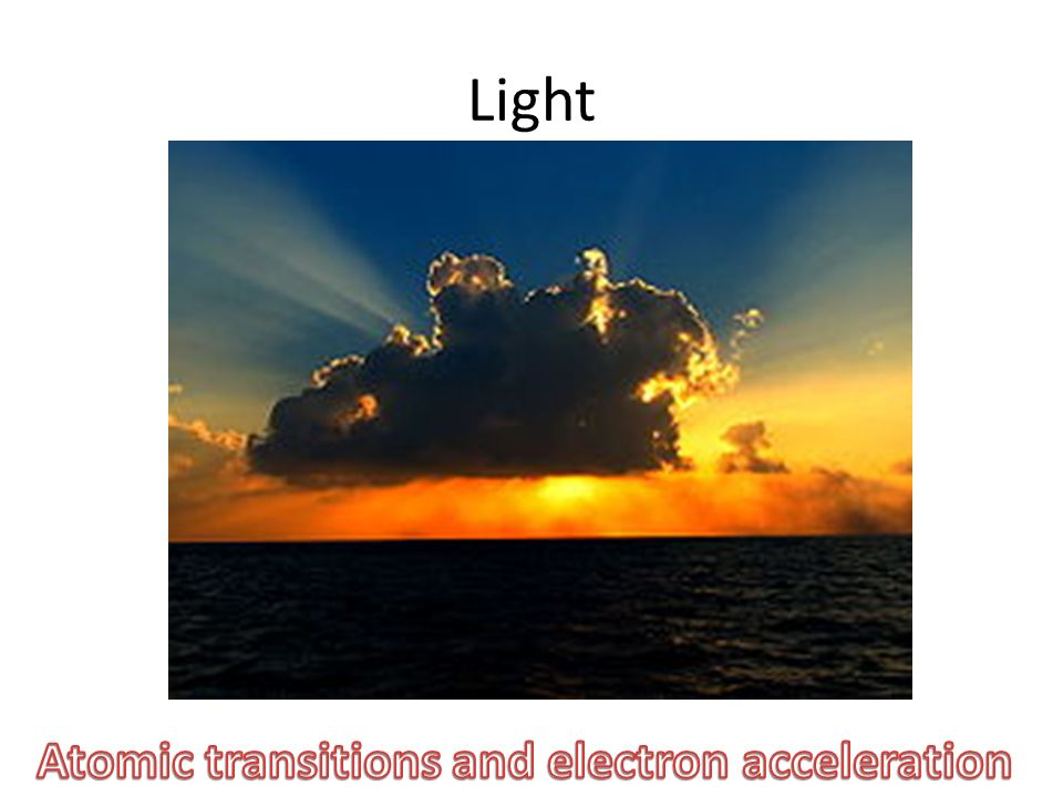 Atomic transitions and electron acceleration