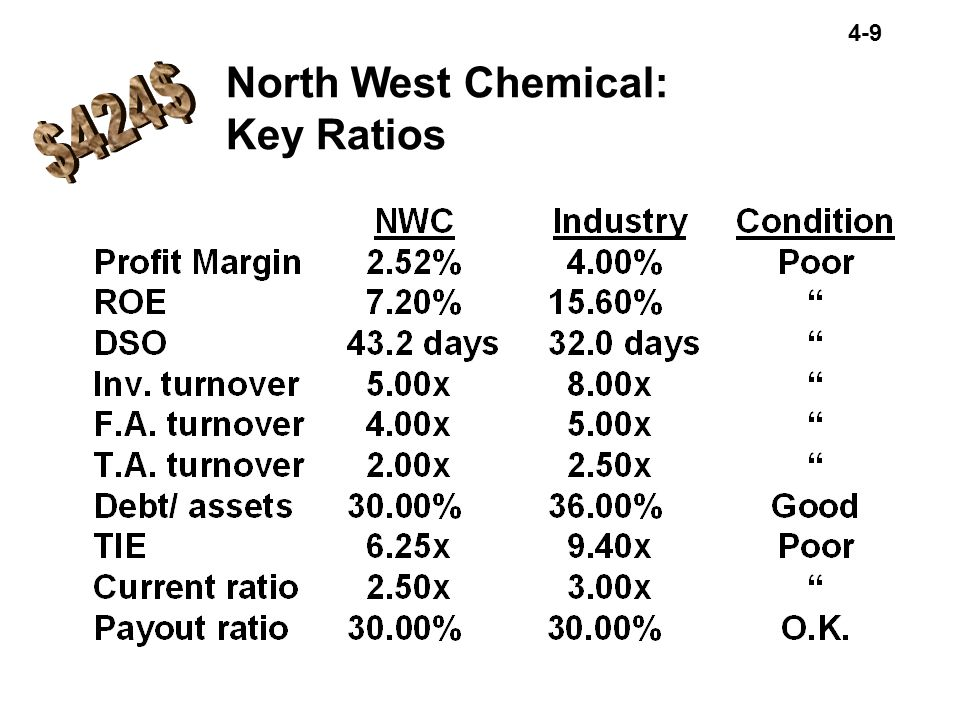 North West Chemical: Key Ratios $424$