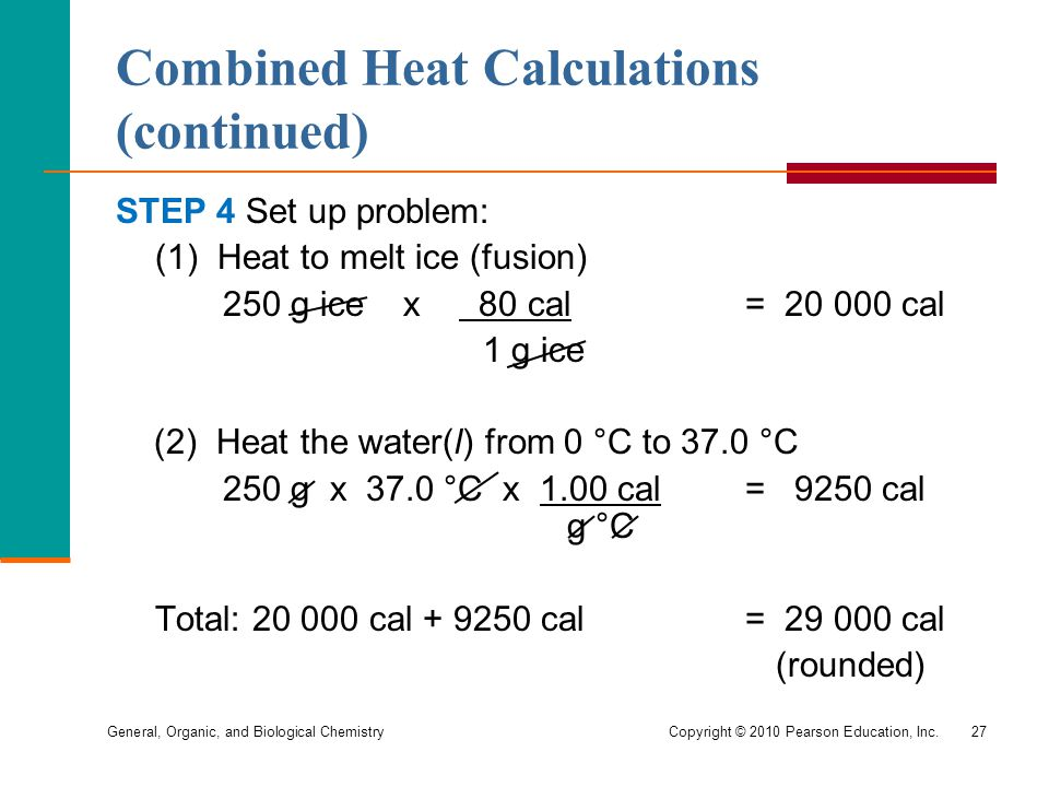 Combined Heat Calculations (continued)