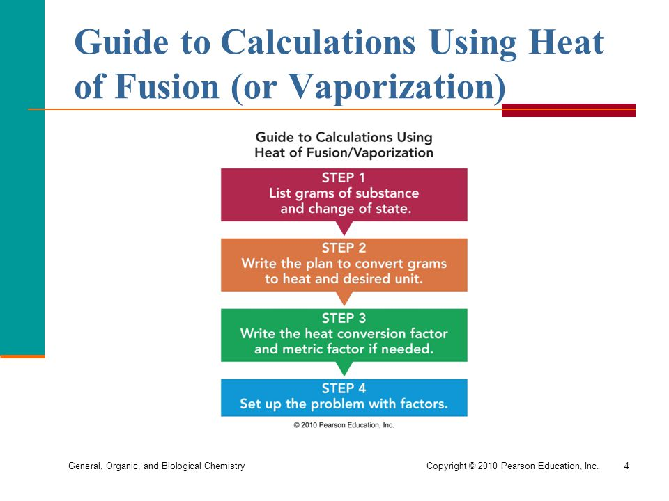 Guide to Calculations Using Heat of Fusion (or Vaporization)