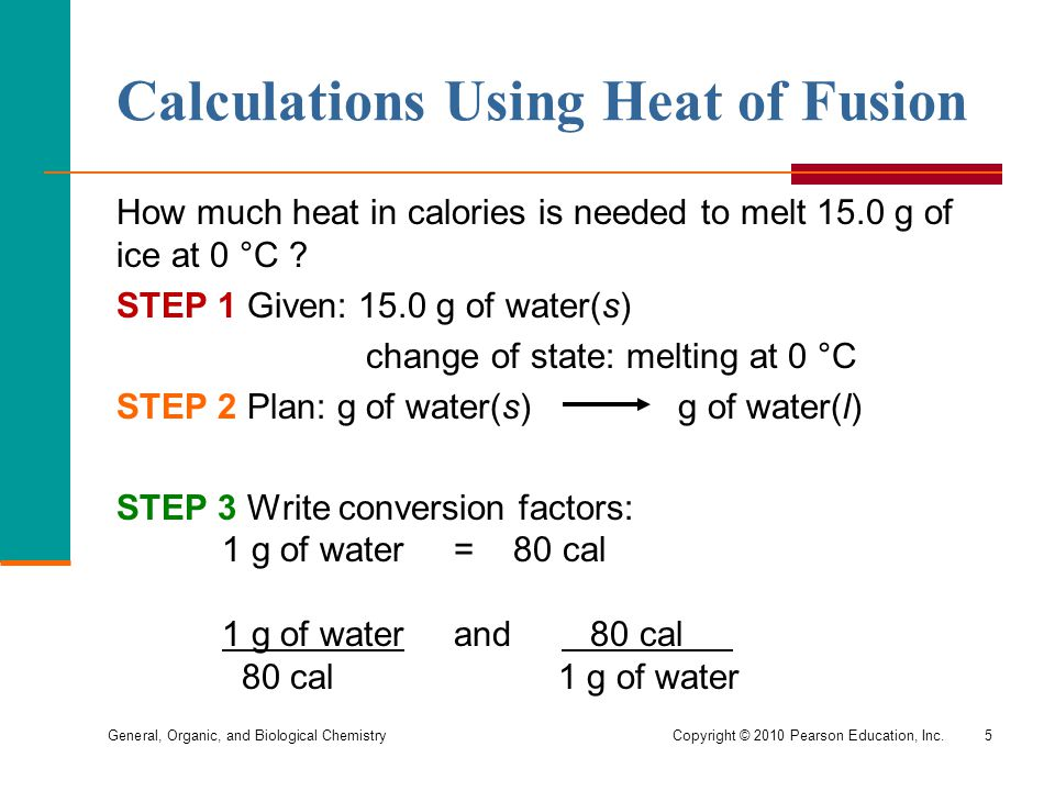 Calculations Using Heat of Fusion