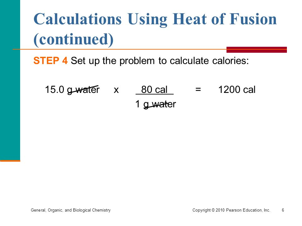 Calculations Using Heat of Fusion (continued)