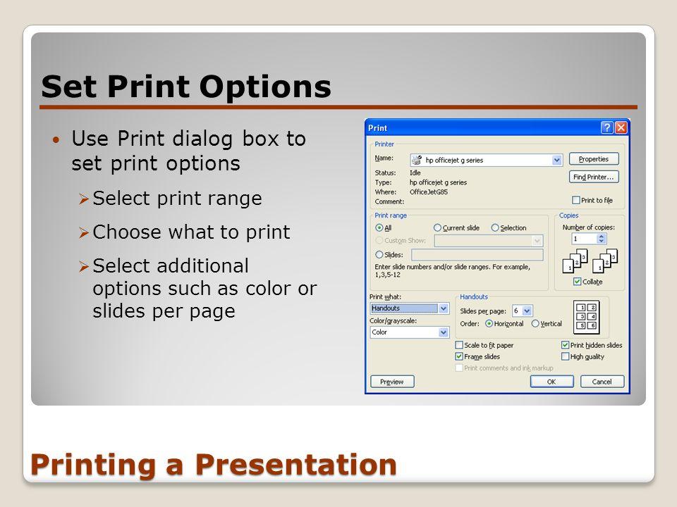 Printing a Presentation