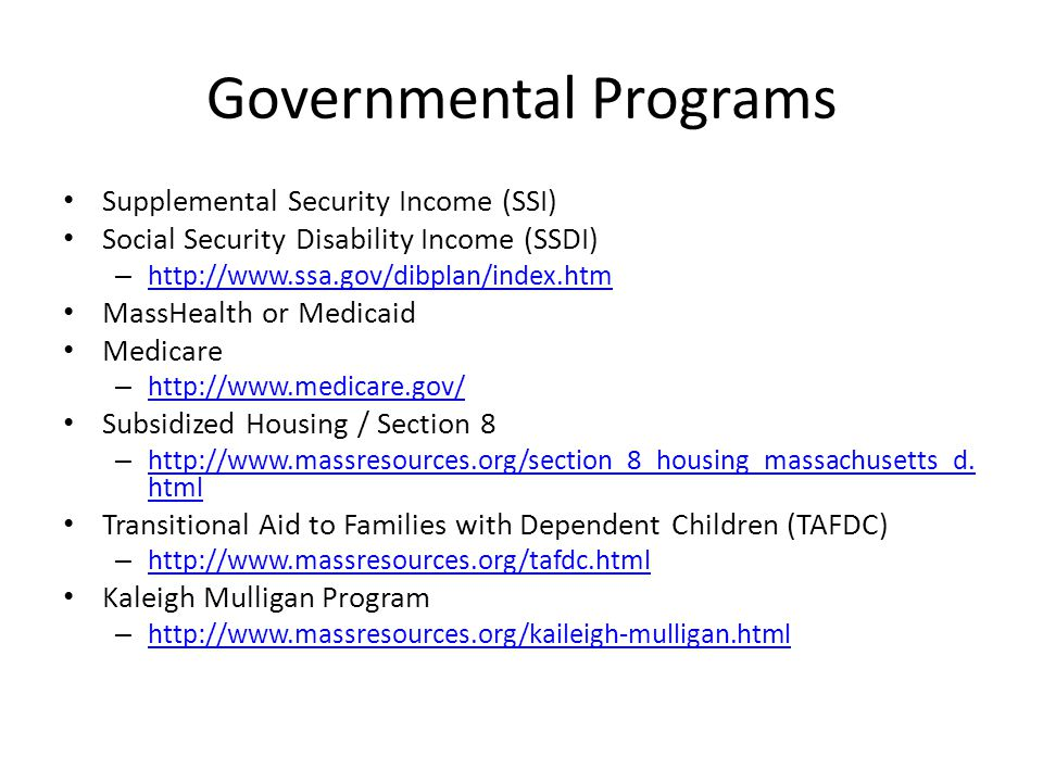 Governmental Programs