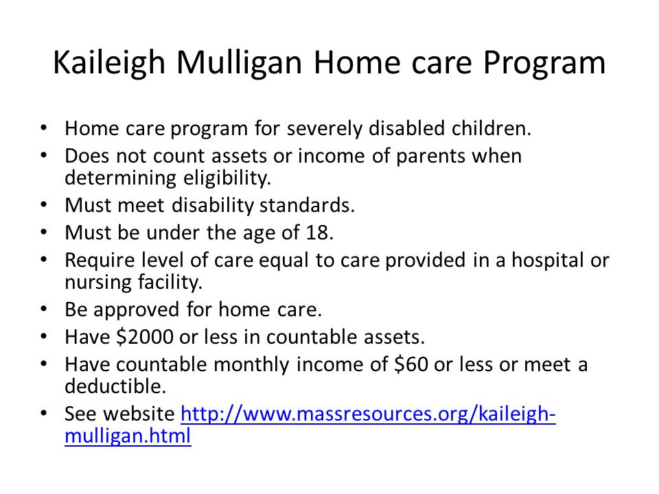Kaileigh Mulligan Home care Program