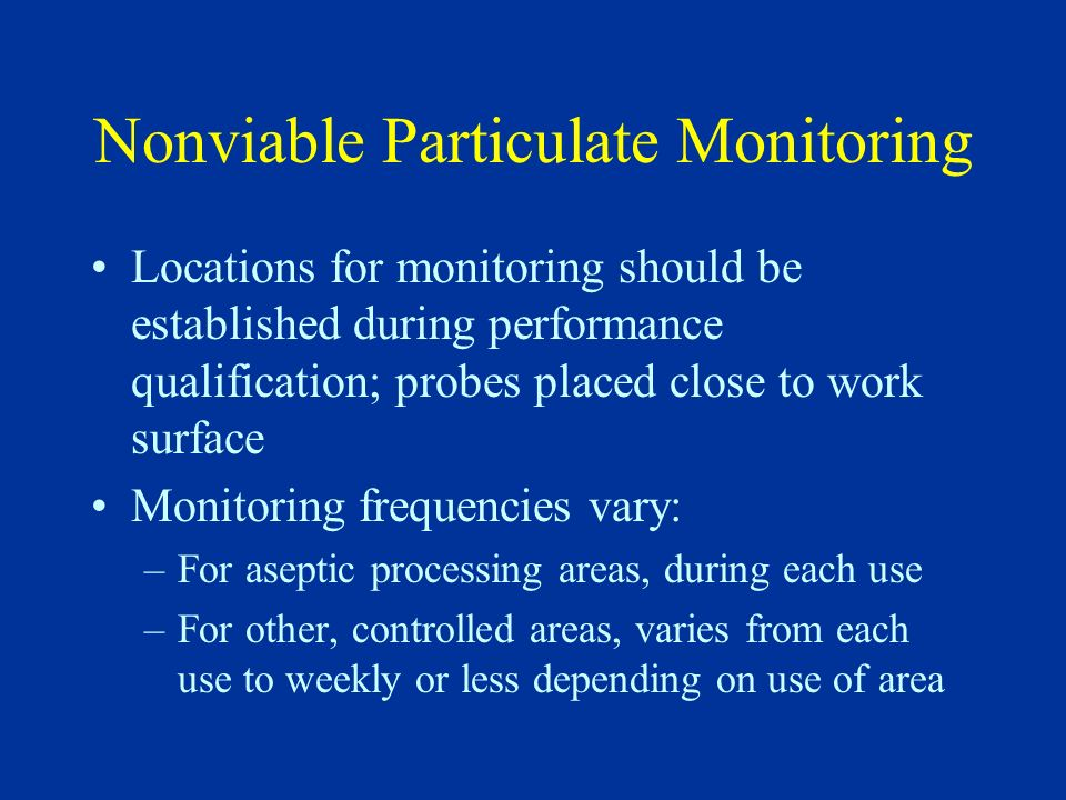 Nonviable Particulate Monitoring