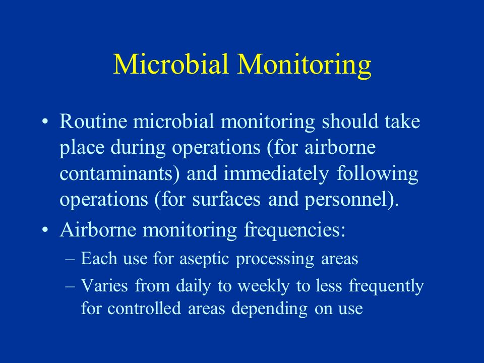 Microbial Monitoring