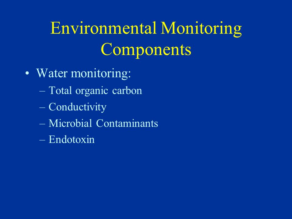 Environmental Monitoring Components