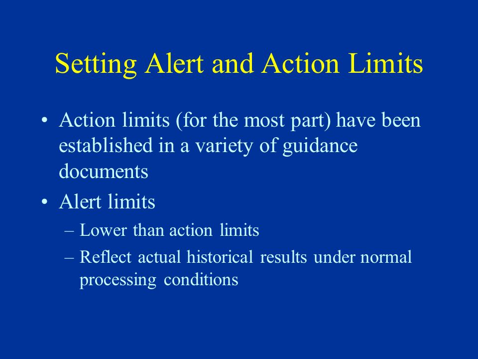 Setting Alert and Action Limits