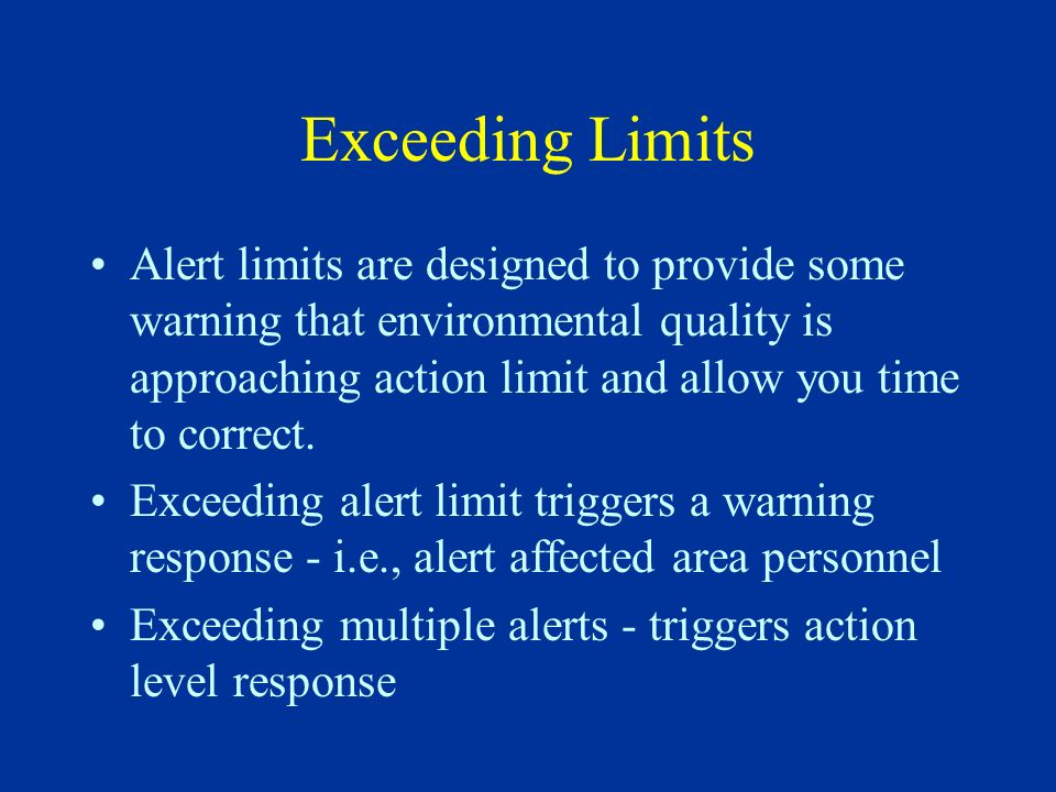 Exceeding Limits