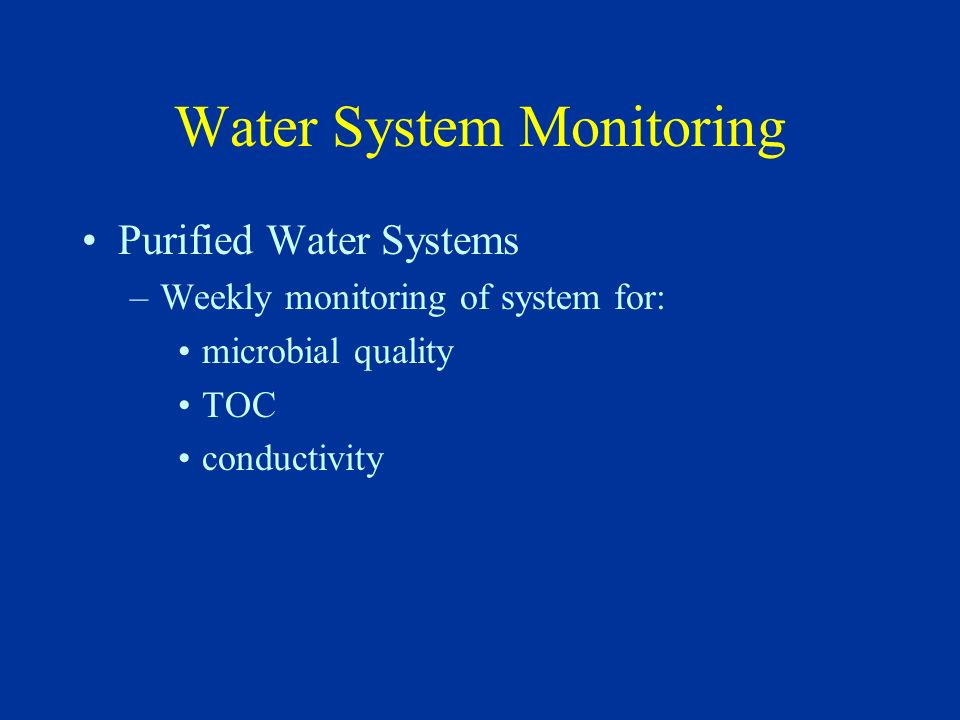 Water System Monitoring