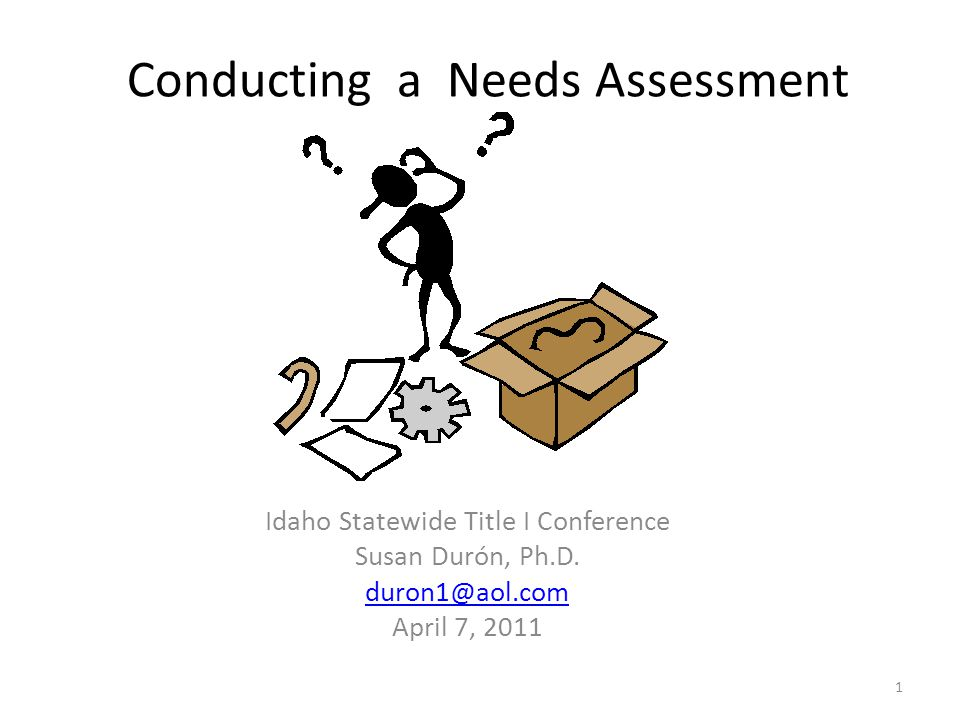 Conducting A Needs Assessment  Ppt Download