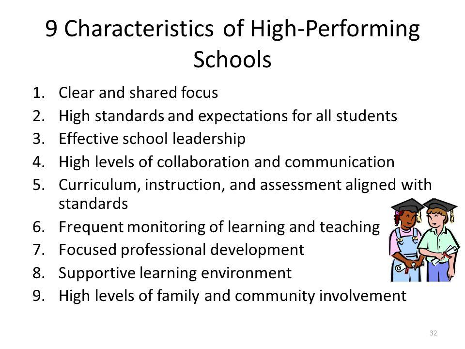 9 Characteristics of High-Performing Schools