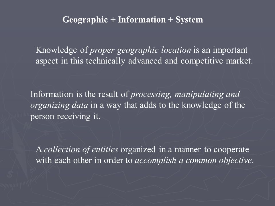 Geographic + Information + System