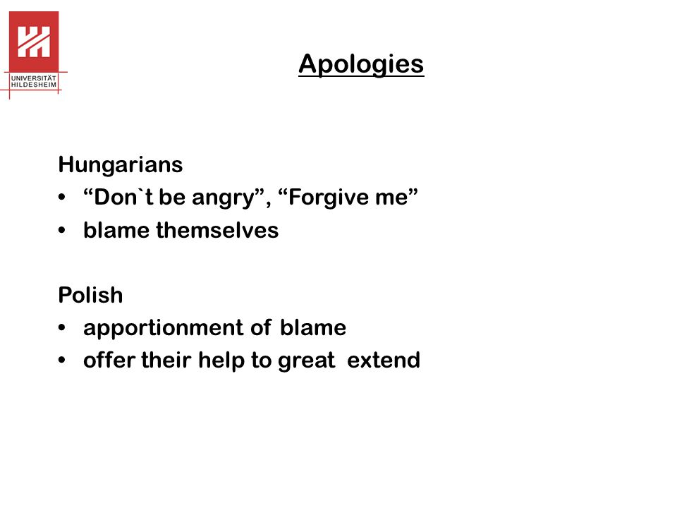 Apologies Hungarians Don`t be angry , Forgive me blame themselves